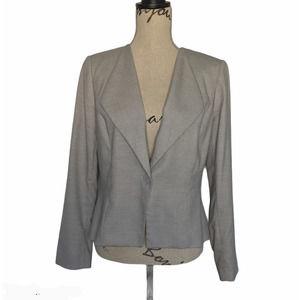 WHBM Houndstooth Blazer Gray Size 12 Petite